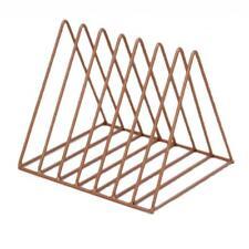 Triangle Book Holder Minimalist Bookshelf Desktop Organizer Rack A Copper