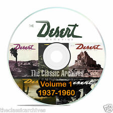 Desert Magazine, 1937-1960, Volume 1, Back Issues, Treasure Hunting CD DVD B57