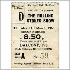Rolling Stones 1965 Sheffield City Hall Concert Ticket Stub (UK)