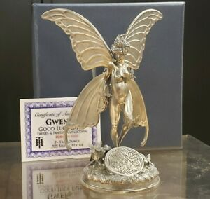7+ oz .925 Silver Statue - Heads or Tails Coins - Gwen Good Luck Fairy - F2311