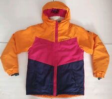 686 girls annex snow jacket size youth XL raspberry colorblock waterproof