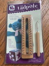 Kb The Tadpole Knitting Board Loom 6 inch & knit hook