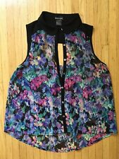 Wet Seal Juniors Button Up Sleeveless Blouse Sz. Med. $19.99  Multi-color