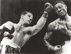 ROCKY MARCIANO KO's EZZARD CHARLES 8X10 PHOTO BOXING PICTURE ACTION SHOT