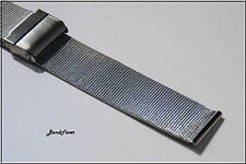 CLEARANCE High Quality 18mm Full Silver Mesh Watch Band,Bracelet Mens or Womens
