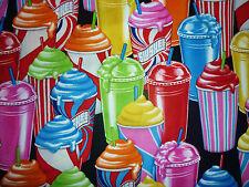 Clearance fq bright slushee gadoue glace boisson lolly tissu kitsch food summer