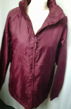 Burgundy light weight fleece lined jacket - Size M ( 10 - 12 )- from 2c0e412b6