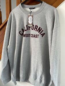 BNWT Ladies BOOHOO Grey Oversized Sweater Jumper Size XL 18 California