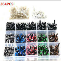 264PCS Plastic Safety Eyes 6-12mm Colorful Teddy Bear Doll Crafts Toy Making GT#