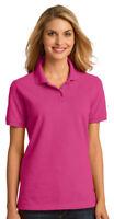 Port & Company Women's 100% Cotton Short Sleeve Golf Polo Shirt. LKP150