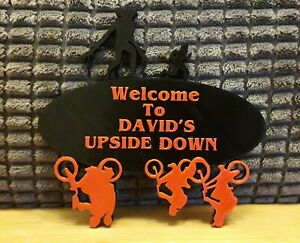 3D Printed Stranger Things Door Sign / Wall Plaque Personalised