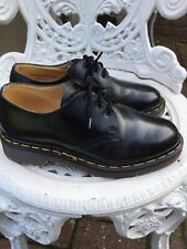 Doc Martens 1461 Smooth Black Leather 3hole Uk4/37 Ladies Shoes Stunning MIE
