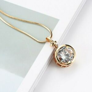 Statement Solitaire Crystal Long Pendant and Necklace - New in Box