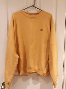 Urban Outfitters Lady Renewal Oversized Yellow Champion Jumper Size Large