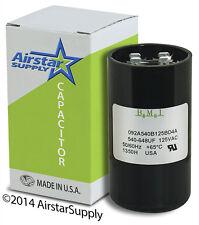 Motor Start Capacitor 540-648 uF Mfd 110 / 125 Vac Mars 11026 Jard 11926 Pmj540