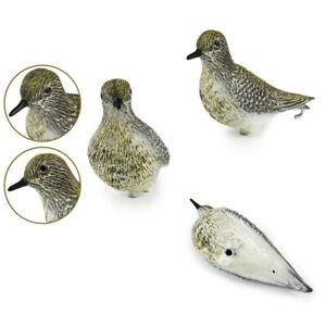 3pcs Golden Plover Shorebird Decoy Fake Bird Scare Protect Garden Hunting