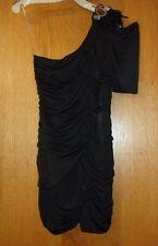 Womans  sz Jr L - Black Cocktail DRESS - Do & Be - Club DRESS - Beads & Feathers