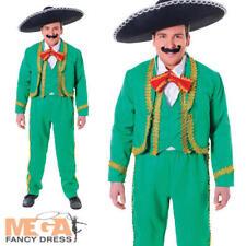 Mexicain mariachis chanteur ROBE FANTAISIE HOMME lecteur de bande Costume Adultes Tenue nouveau