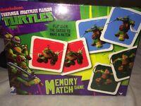 NEW Teenage Mutant Ninja Turtles Memory TMNT Match Game, 4 Players by Cardinal
