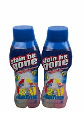 2 Pack Stain Be Gone Laundry Stain Remover 2 In 1 Action - 18 Oz. - Rare Product