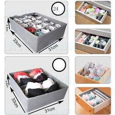 3x Underwear Bra Socks Ties Divider Closet Container Storage Box Organizer Set T