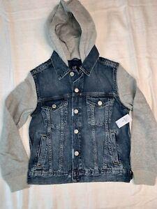 GAP Kids Hooded Denim Jacket M