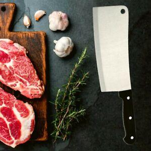 Couperet de Boucher 30 cm en Inox Feuille de Boucher Viande Cuisine Couteau Noir
