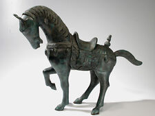 """Chinese Bronze Tang Horse Sculpture - 23"""" Statue Vintage Export"""