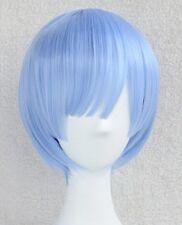 Re:Zero Kara Hajimeru Isekai Seikatsu Rem Anime Cosplay Wig +CAP +Track NO
