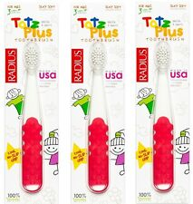 Radius Totz Plus Toothbrush, 3+ Years, Assorted Colors, 6 Pack