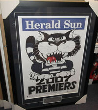 2007 GEELONG CATS  AFL PREMIERS WEG POSTER  & PLAQUE - PROFESSIONALLY FRAMED