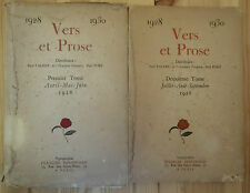 Vers et Prose. EO NUM 2/2 Paul Fort Valéry Schwob sur vergé typo Bernouard 1928