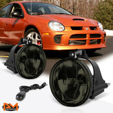 For 03-05 Dodge Neon Smoked Lens Front Bumper Driving Fog Light/Lamp+Switch Pair