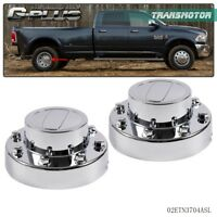 NEW For 2011-16 DODGE RAM 3500 1-TON Dually Rear Alcoa Alloy Wheel Center Caps