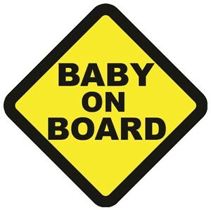 BABY ON BOARD WARNING SAFETY BUMPER STICKER Sign Car Vinyl vehicle windows