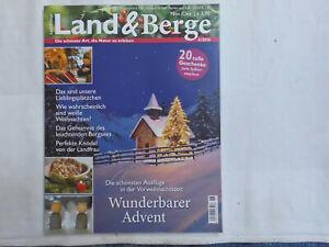 Land & Berge Zeitschrift Nov. Dez. 2016 Weihnachten Rezepte Deko-Ideen Natur