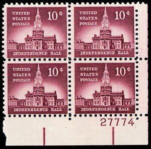 1044d, Mint FVF NH TAGGED Plate Block of Four Stamps - Stuart Katz