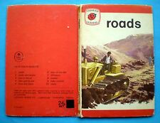 Roads Ladybird vintage book history cars motorways building early learning 1974'
