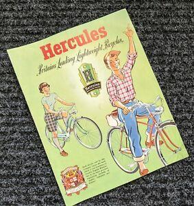 1958 AMF HERCULES  BICYCLE SALES CATALOG-ORIGINAL SALES BROCHURE-Lightweight