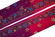 Vintage Indian Sari Trim Sewing Border Antique Embroidered Ribbon Lace ST1823