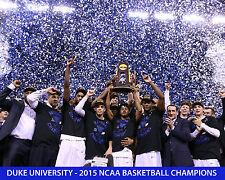 DUKE UNIVERSITY - 2015 NCAA BASKETBALL CHAMPIONS - 8x10 Color Team Photo