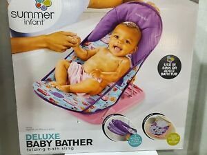 Summer Infant Deluxe Baby Bather Folding Bath Sling, Dolphin Dive **BRAND NEW**