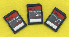 Lot of 3 2GB Standard Capacity SD Memory Cards SanDisk Ultra 15MB/s Class 4