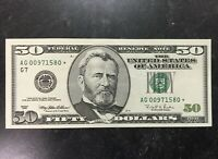 1996 $50 DOLLAR UNITED STATES FEDERAL RESERVE NOTE STAR REPLACEMENT NOTE 2 ZERO