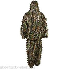 3D Jungle Camouflage Leafy Hunting Camo Suit Set Sniper Archery Ghillie Birding