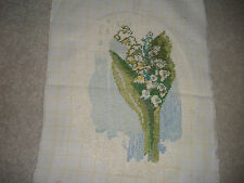 "VINTAGE COMPLETED NEEDLEPOINT VERY FINE GOBELIN GOBLIN FLOWERS OVAL 8""X11"""