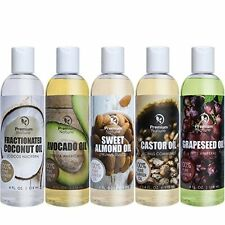 Massage Carrier Oil Gift Set - Coconut Caster Grapeseed Avocado Sweet Almond Oil