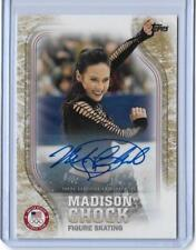RARE 2018 TOPPS OLYMPICS MADISON CHOCK FIGURE SKATING GOLD AUTOGRAPH CARD /25