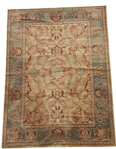 Arts and crafts Machine made wool Indian room size carpet rug 11.4 x 7.3 FT