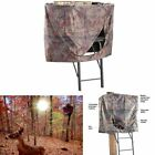 UNIVERSAL BLIND TREE STAND HUNTING Camo Outdoor Sports Shoot Hunt Entry Zipper